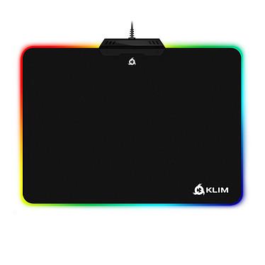 KLIM RGB Mousepad Tapis de souris en tissu avec rétro-éclairage multicolore personnalisable pour gamer