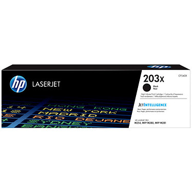 HP LaserJet 203X (CF540X) Toner Noir haute capacité (3 200 pages à 5%)