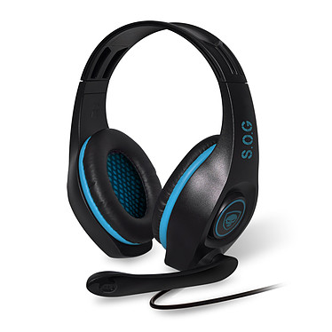 Spirit of Gamer Pro-H5 (Bleu) Casque-micro pour gamer (compatible PS4 / Xbox One / Nintendo Switch / PC / MAC)