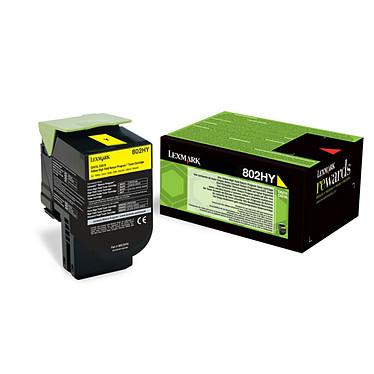 Lexmark 802HYE - 80C2HYE Toner Jaune haute capacité (3 000 pages à 5%)