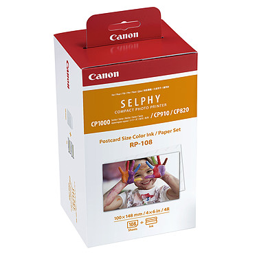 Canon RP-108 Encre Couleur / Kit Papier photo 100 x 148 mm - 108 tirages
