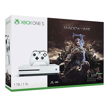 Microsoft Xbox One S (1 To) + Middle Earth : Shadow of War Console de jeux-vidéo 4K nouvelle génération avec disque dur 1 To + Shadow of War