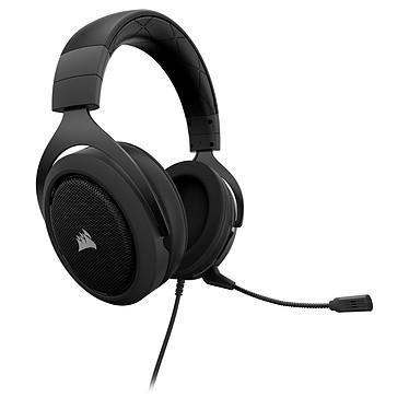 Corsair HS50 (noir) Casque gaming - Jack - son stéréo - micro à réduction de bruit - certifié Discord
