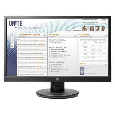 """HP 21"""" LED - V214a 1920 x 1080 pixels - 5 ms - Format large 16/9 - Dalle TN - HDMI/VGA - Haut-parleurs intégrés - Noir"""