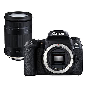 "Canon EOS 77D + Tamron 18-400mm f/3.5-6.3 Di II VC HLD Reflex Numérique 24.2 MP - Ecran tactile orientable 3"" - Dual AF - Vidéo Full HD 60p - Wi-Fi/NFC - Bluetooth + Megazoom à ouverture f/3.5-6.3"
