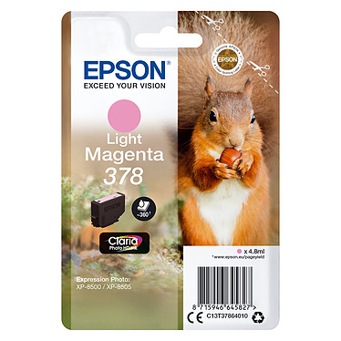 Epson Ecureuil Magenta Clair 378 Cartouche d'encre Claria Photo HD Magenta clair (4.8 ml / 360 pages)