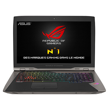 "ASUS ROG GX800VH-GY004T avec Dock Watercooling Intel Core i7-7820HK 64 Go SSD 1.5 To (3x 512 Go) 18.4"" LED Ultra HD G-SYNC NVIDIA GeForce GTX 1080 SLI Wi-Fi AC/Bluetooth Webcam Windows 10 Famille 64 bits (garantie constructeur 2 ans)"