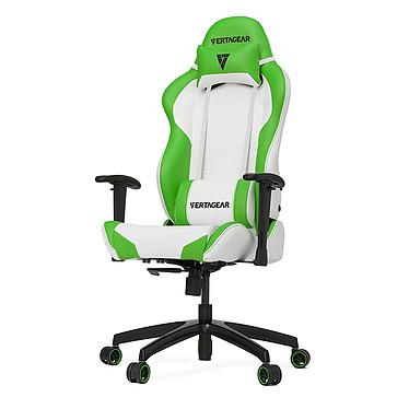 Vertagear Racing SL2000 (blanc/vert) Siège en similicuir avec dossier réglable à 140° et accoudoirs 2D pour gamer (jusqu'à 150 kg)