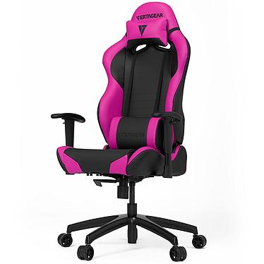 Vertagear Racing SL2000 (negro/rosa) Asiento de piel con respaldo regulable en 140° y reposabrazos 2D para jugadores (hasta 150 kg)