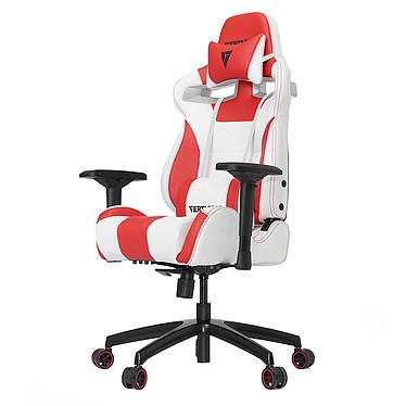 Vertagear Racing SL4000 (blanc/rouge) Siège en similicuir avec dossier réglable à 140° et accoudoirs 4D pour gamer (jusqu'à 150 kg)