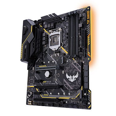 ASUS TUF Z370-PRO GAMING Carte mère ATX Socket 1151 Intel Z370 Express - 4x DDR4 - SATA 6Gb/s + M.2 - USB 3.1 - 3x PCI-Express 3.0 16x