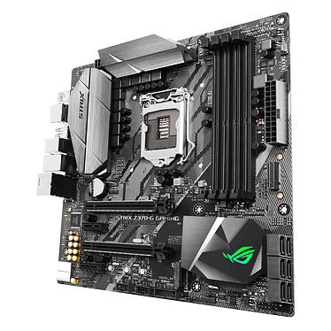 ASUS ROG STRIX Z370-G GAMING Wi-Fi AC Carte mère Micro ATX Socket 1151 Intel Z370 Express - 4x DDR4 - SATA 6Gb/s + M.2 - USB 3.1 - Wi-Fi AC/Bluetooth 4.2 - 3x PCI-Express 3.0 16x