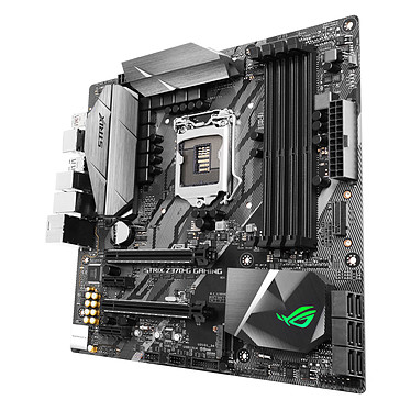 ASUS ROG STRIX Z370-G GAMING Carte mère Micro ATX Socket 1151 Intel Z370 Express - 4x DDR4 - SATA 6Gb/s + M.2 - USB 3.1 - 3x PCI-Express 3.0 16x