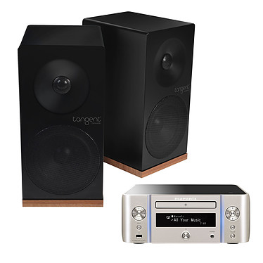 Marantz Melody Stream M-CR611 Argent Or + Tangent Spectrum X5 Noir