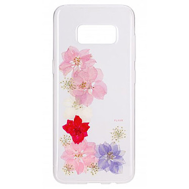 Flavr iPlate Real Flower Grace Galaxy S8+ Coque de protection transparente florale pour Samsung Galaxy S8+