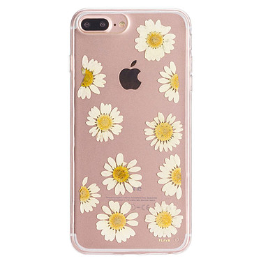 Flavr iPlate Real Flower Daisy iPhone 6 Plus/6s Plus/7 Plus/8 Plus Coque de protection transparente florale pour iPhone 6 Plus/6s Plus/7 Plus/8 Plus