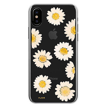 Flavr iPlate Real Flower Daisy iPhone X  Coque de protection transparente florale pour iPhone X