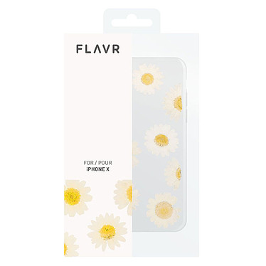 Flavr iPlate Real Flower Daisy iPhone X  pas cher