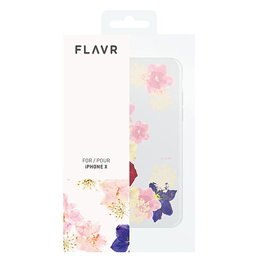 Flavr iPlate Real Flower Grace iPhone X  pas cher
