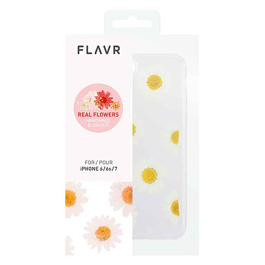 Flavr iPlate Real Flower Daisy iPhone 6/6s/7/8 pas cher