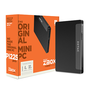 ZOTAC ZBOX PICO PI225 Intel Celeron N4000 4 Go 32 Go Intel HD Graphics 600 - Windows 10 Home (sans écran)