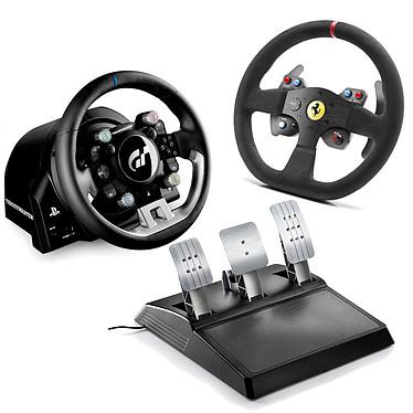 Thrustmaster T-GT + Thrustmaster 599XX EVO 30 Wheel Add-on Alcantara Edition Ensemble volant amovible à retour de force avec moteur T-40VE et pédalier 3 pédales sous licences officielles PlayStation 4 et Gran Turismo + Volant de remplacement Ferrari OFFERT !