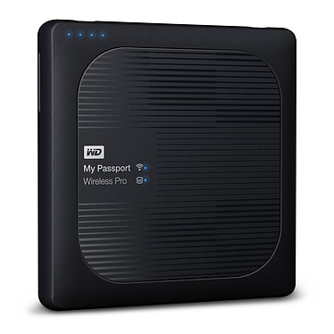 "WD My Passport Wireless Pro 4 To Noir (Wi-Fi/USB 3.0/SD-Card) Disque dur externe 2.5"" Wifi et sur port USB 3.0 / USB 2.0"