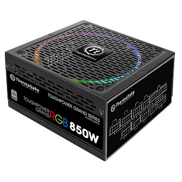 Thermaltake Toughpower Grand RGB 850W Alimentation modulaire 850W ATX 12V v2.4/EPS v2.92 - Ventilateur RGB 140 mm - A-PFC - 80 PLUS Platinum