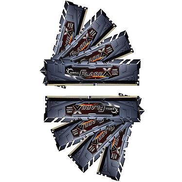 G.Skill Flare X Series 64 Go (8x 8 Go) DDR4 2933 MHz CL16 Kit Quad Channel 8 barrettes de RAM DDR4 PC4-23400 - F4-2933C16Q2-64GFX