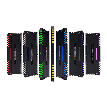 Corsair Vengeance RGB Series 32 Go (2x 16 Go) DDR4 3000 MHz CL16 pas cher