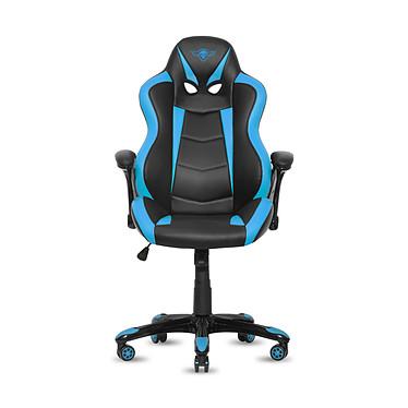 Spirit of Gamer Racing (bleu) Siège en similicuir avec accoudoirs fixes pour gamer (jusqu'à 120 kg)