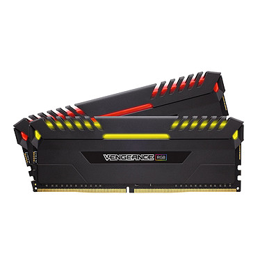 Corsair Vengeance RGB Series 16 Go (2x 8 Go) DDR4 3200MHz CL16 Kit Dual Channel 2 barrettes de RAM DDR4 PC4-25600 - CMR16GX4M2D3200C16 (garantie à vie par Corsair)