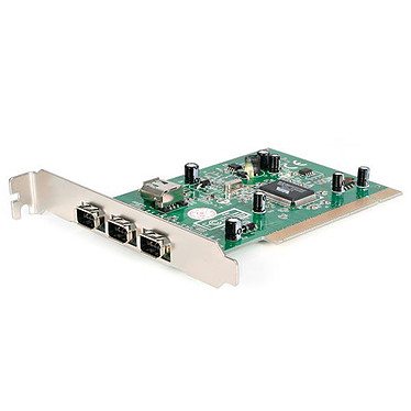 StarTech.com PCI1394_4 Carte contrôleur PCI vers 4 ports FireWire 400 1394a 6 Broches (3 externes, 1 interne partagé)
