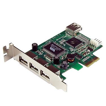 StarTech.com PEXUSB4DP Tarjeta PCI-E 1x a 3 puertos USB 2.0 externos + 1 USB 2.0 interno