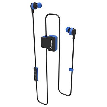 Pioneer SE-CL5BT Bleu Écouteurs sport intra-auriculaires sans fil Bluetooth certifiés IPX4 avec télécommande et micro