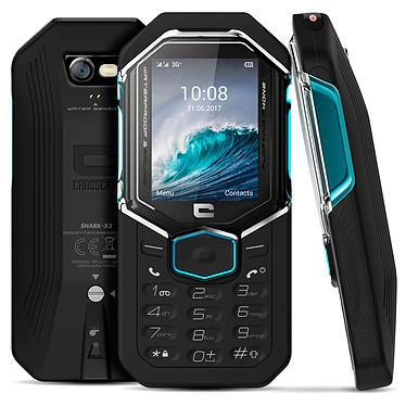 "Crosscall Shark-X3 Téléphone 3G+ Dual SIM IP68 - MediaTek MT6276A - RAM 64 Mo - Ecran 2.4"" 240 x 320 - 128 Mo - Bluetooth 2.1 - 950 mAh"