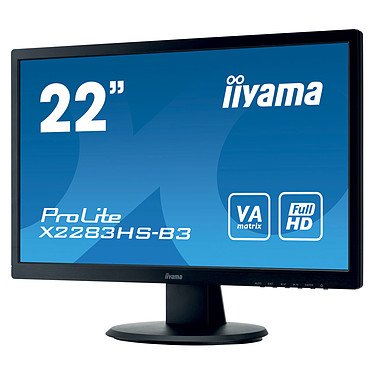 """Avis iiyama 21.5"""" LED - ProLite X2283HS-B3"""