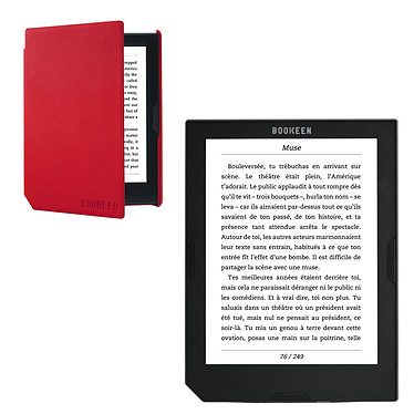 Bookeen Cybook Muse FrontLight 2 + Bookeen Cybook Cover Muse Rouge