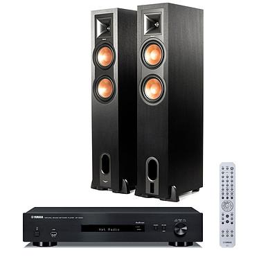 Yamaha MusicCast NP-S303 Noir + Klipsch R-26PF Lecteur réseau MusicCast Wi-Fi Bluetooth DLNA et AirPlay + Enceinte colonne avec préampli phono et Bluetooth aptX (par paire)
