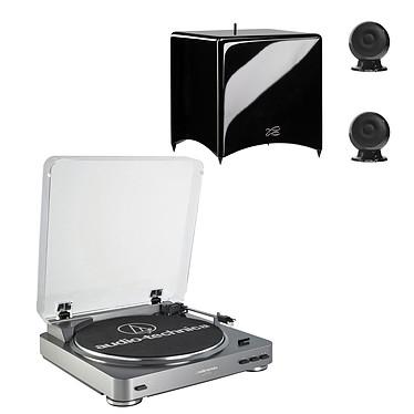 Audio-Technica AT-LP60USB + Cabasse Stream 3 Noir