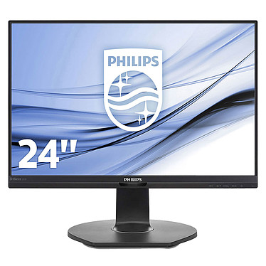 "Philips 24.1"" LED - 240B7QPJEB 1920 x 1200 pixels - 5 ms (gris à gris) - Format large 16/10 - Dalle IPS - DisplayPort - HDMI - Hub USB - Noir"