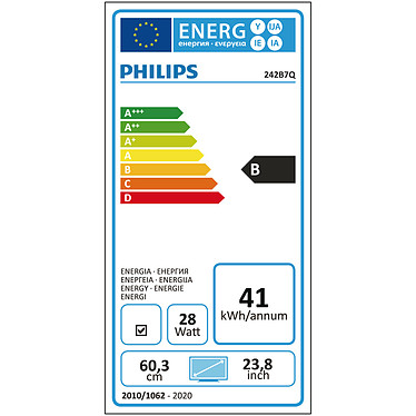 "Philips 24"" LED - 242B7QPTEB pas cher"