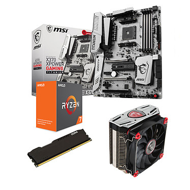 Kit Upgrade PC AMD Ryzen 7 1700X MSI X370 XPOWER GAMING TITANIUM 8 Go