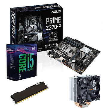 Kit Upgrade PC Core i5K ASUS PRIME Z370-P 8 Go Carte mère Socket 1151 Intel Z370 Express + CPU Intel Core i5-8600K (3.6 GHz) + RAM 8 Go DDR4
