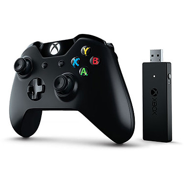 Microsoft Xbox One Controller + Wireless Adapter Manette de jeu sans fil avec adaptateur sans fil (compatible Xbox One et PC)