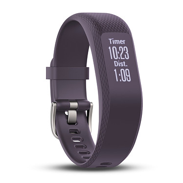 Garmin vívosmart 3 Violet Small/Medium Bracelet connecté étanche avec cardio poignet, tracker d'activité, Bluetooth et notifications (iOS, Android, Windows)