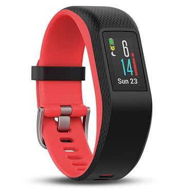 Garmin vívosport Fuchsia Small/Medium Bracelet connecté étanche avec cardio poignet, GPS, tracker d'activité, Bluetooth, écran tactile couleur et notifications (iOS, Android, Windows)