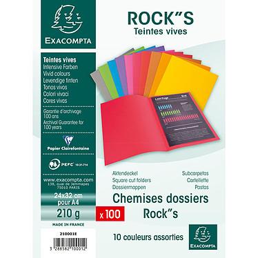 "Acheter Exacompta Chemises Rock""s Assortis x 100"