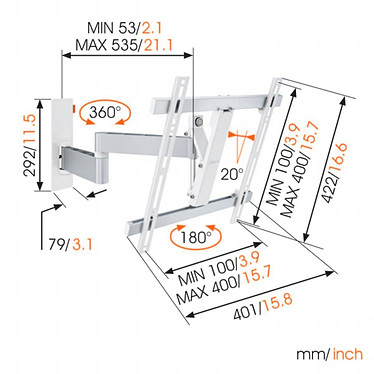 Comprar Vogel's WALL 3245 Blanco