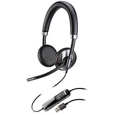 Plantronics Blackwire C725-M Casque-micro USB avec annulation active du bruit optimisé pour Microsoft Lync & Skype for Business